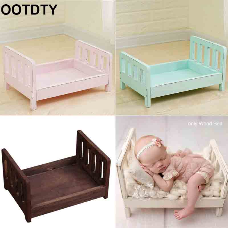 Newborn Photography Props Wood Bed Infant Poses Baby Photography Prop Detachable Background Props Baby Photography Accessories