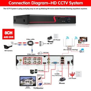 Image 3 - 4mp hd cctv 시스템 8ch ahd dvr 키트 8 pcs 4.0mp 2560*1440 6 * 어레이 led 보안 카메라 야외 감시 키트 쉬운 원격보기