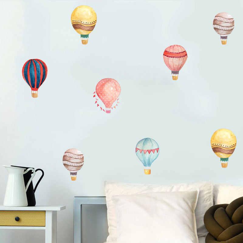 36 قطعة معكرون بالون الهواء الساخن المياه اللون الجدار ملصق اللون دائرة صور مطبوعة للحوائط للأطفال غرفة الطفل الحضانة الديكور ديكور المنزل