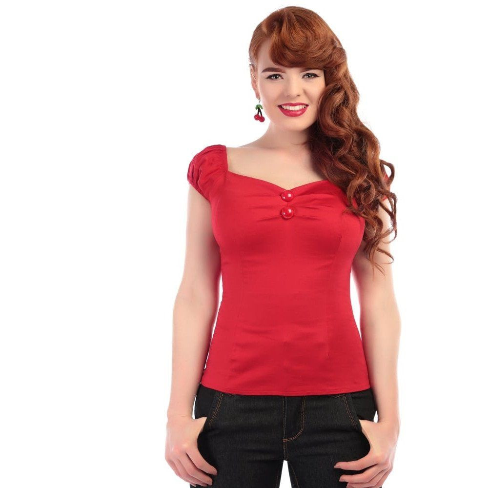 40-4 цвета woemn vintge 50s возлюбленный вырез с открытыми плечами dolores топы футболки размера плюс на пуговицах camisetas boothals