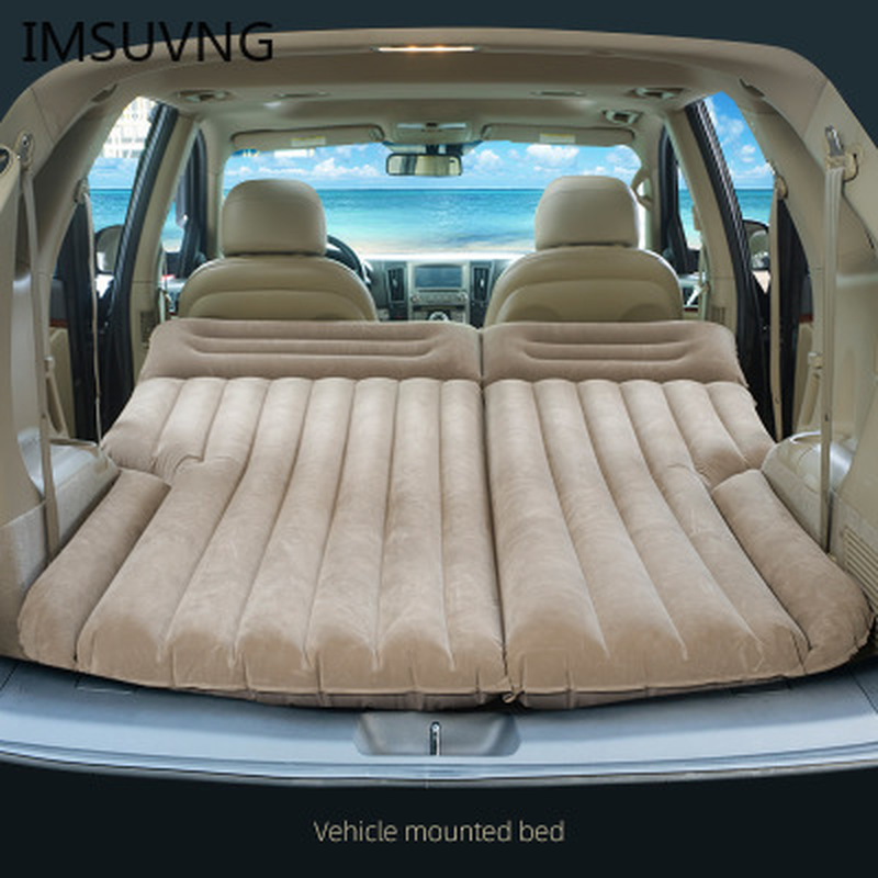 Car inflatable bed car SUV travel bed outdoor air cushion bed folding portable flocking mattress sleeping pad inflatable sofa