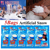 Christmas Fake Magic Instant Snow Fluffy Super Absorbant Decorations For Christmas Wedding 5PCS/Bag