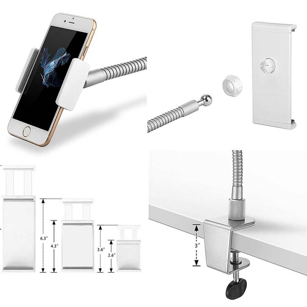Белая портативная пластиковая и стальная настольная подставка для смартфона Подставка для планшета настольная подставка для кровати планшет зажим подставки LP7
