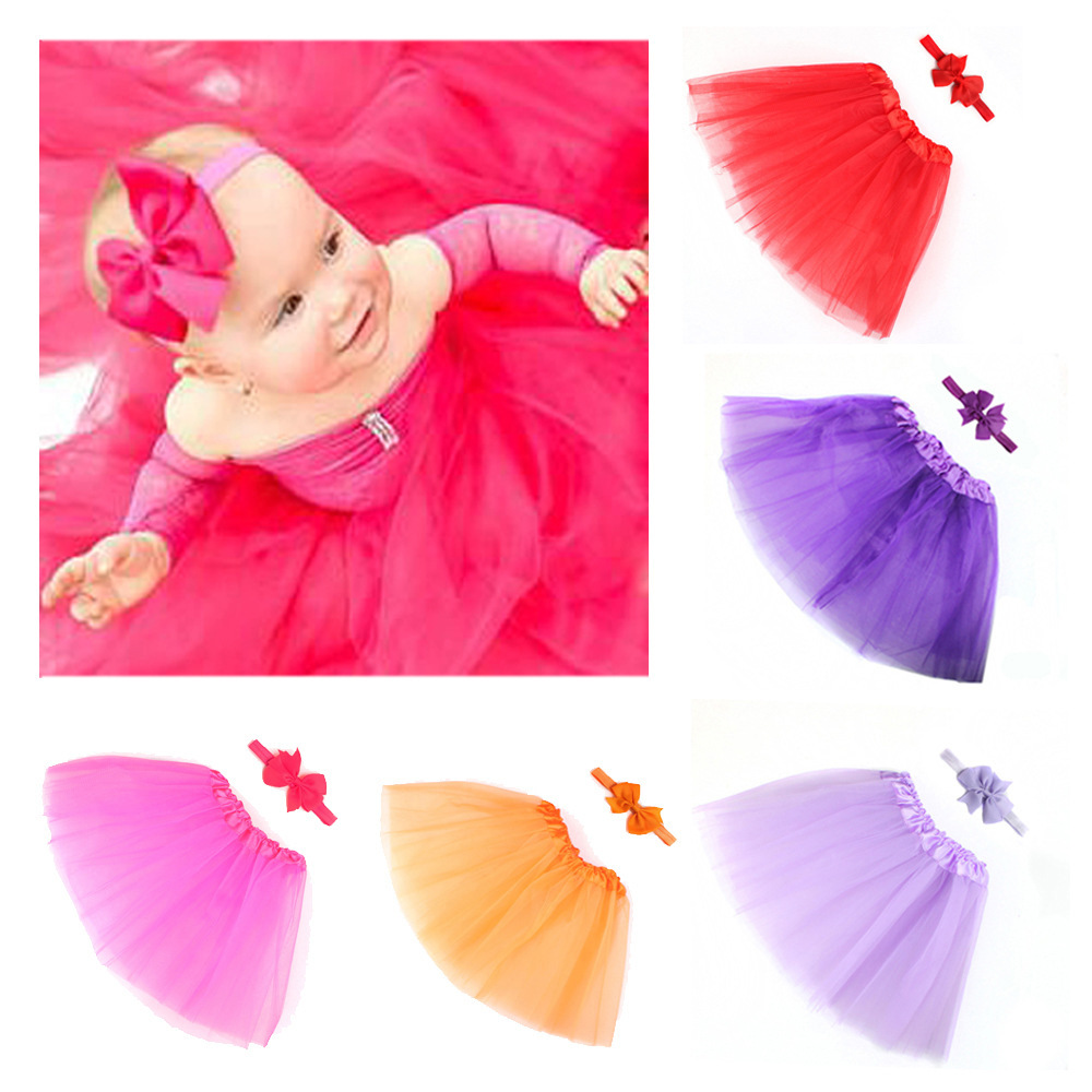 Baby Girls Newborn Photography Props Baby Tutu Skirt Bow Headband Set Photos Props New Born Photography Props Accessories