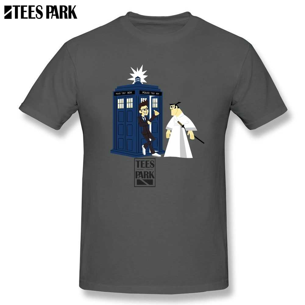 Grappige Hiphop Tee Shirt Doctor Who TV Show Slim Fit Dr Who T Shirts Man Ronde Kraag Korte Mouw samurai Jack T-shirt