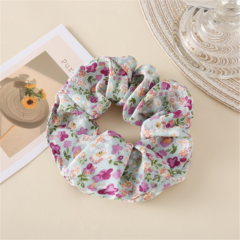 Hair accessories 2021 women floral diamond ponytail ribbon colonic hair circle tie hair light and delicate women exclusive