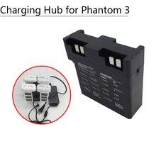 Gerente de bateria inteligente para dji fantasma 3 3a 3 p 3 s se adaptador placa carregador paralelo hub carregamento drone peças acessórios