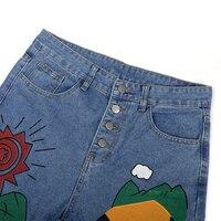 Cartoon Printed Jeans  1