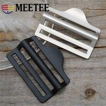 Meetee 2/4 шт. 40/50 мм четырех-скорости с декоративной металлической пряжкой и регулировки крючки для рюкзак Чемодан оборудования кожаные аксессуары BF512