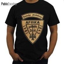 Leisure Wehrmacht T-shirt Voor Mannen O Hals Katoenen T-shirt Dak Deutsches Afrikakorps Afrika 1941-43 Tees Grafische Gedrukt kleding