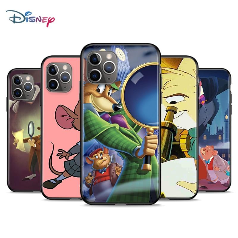 Great Mouse Detective Disney for Apple iPhone 12 11 Mini XS XR X Pro MAX SE 2020 8 7 6 5 5S Plus Black Phone Case Cover