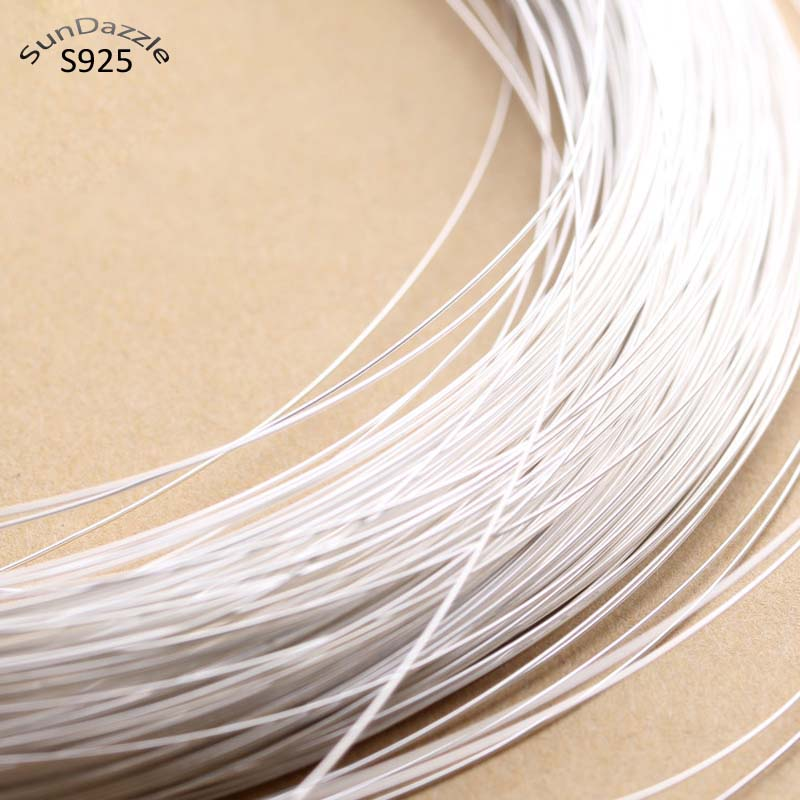 0.4-1.2mm Real Pure Solid 925 Sterling Silver Wire Thread Metal Silver String Line for Necklace Bracelet Earring Jewelry Making(China)