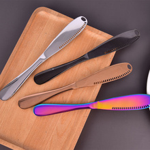 Butter-Knife Cutlery-Tool Dessert Cheese Toast Stainless-Steel with Hole Jam Kitchen