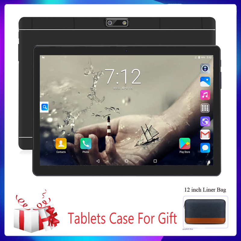 10.1 Inch Tablet System 3G Phone Dual SIM Tablets Android Google Play 4/Quad Core 1GB/32GB IPS Tablet 7 8 9 10 Metal Tablet PC