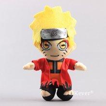 22cm Anime NARUTO Uzumaki Naruto pluszowe zabawki lalki dzieci dzieci prezent urodzinowy miękkie wypchane lalki rysunek Home Sofa samochodowa Decor