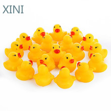 Rubber Duck Bath-Toys Baby Shower Children for Birthday-Favors Gift 100pcs/Lot Squeaky