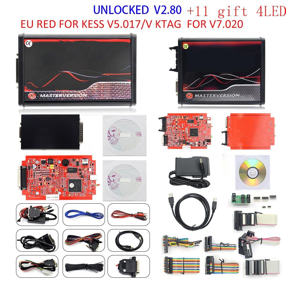 New V2.80 For KESS Ktag K TAG V7.020 K-ESS V2.53 V2 V5.017 SW V2.25 v2.80 2.53 Master ECU Chip Tuning Tool K-TAG 7.020 Online