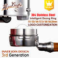 51/53/54/57.5/58/58.35mm Stainless Steel Intelligent Dosing Ring Brewing Bowl Coffee Powder Espresso Barista Funnel Portafilte