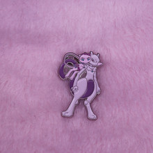 Mew En Mewtwo Revers Pin Grote Nintendo Game Fanatic Collection