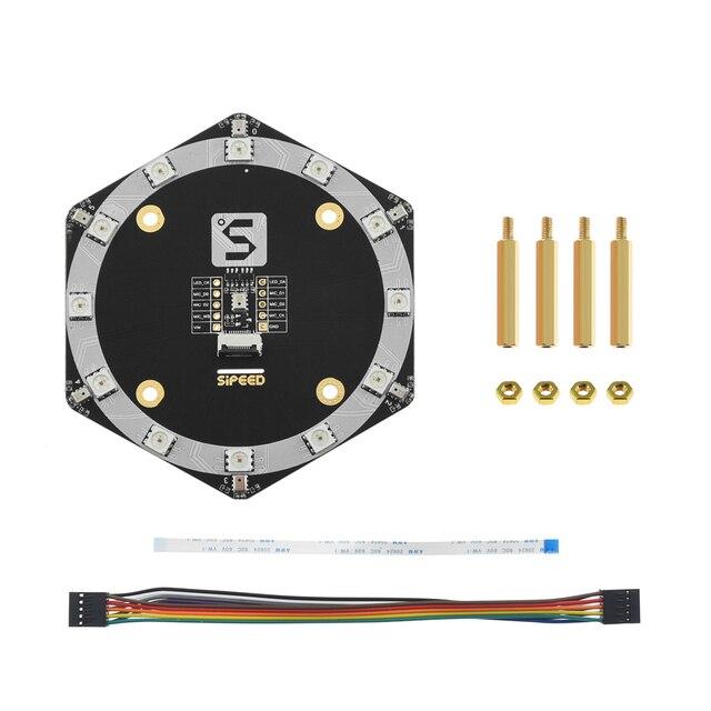 Sipeed placa de microfone r6 + 1 mems, módulo de array de microfone de silicone para sipeed maix bit/maix go