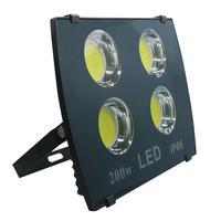 6 pçs/lote led projector cob 100w 200 300 400 led luzes de inundação branco frio quente iluminação inundação led projetor luz