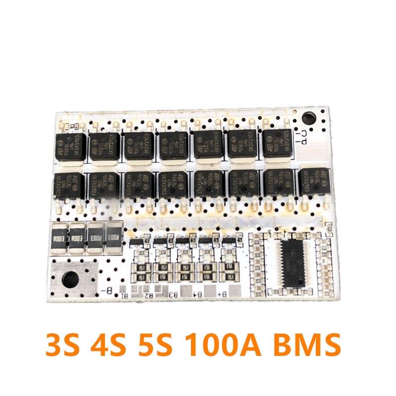 12V 100A 3S 4S 5S BMS литий-ионный ЖИО трехкомпонентная литиевая Батарея защиты печатной платы