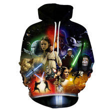 Star Wars3D Print Sweatshirts Men Hoodies Tracksuit Pullover Autumn Winter Hoody Hooded Coat Brand 6XL Drop Ship ZOOTOP BEAR(China)