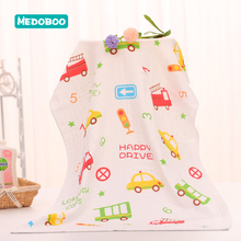 Medoboo 60*120cm Gauze Cotton Baby Bath Towel for Adults Cartoon Double Layer Newborn Receiving Blanket Wrap Kids