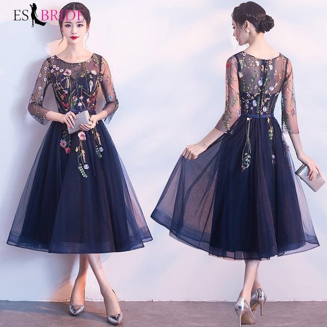 2019 Formal New Fashion Evening Dress Women Vintage Elegant Evening Dresses Sexy 3/4 Sleeve Pleated Velvet Long Dress ES1215 2