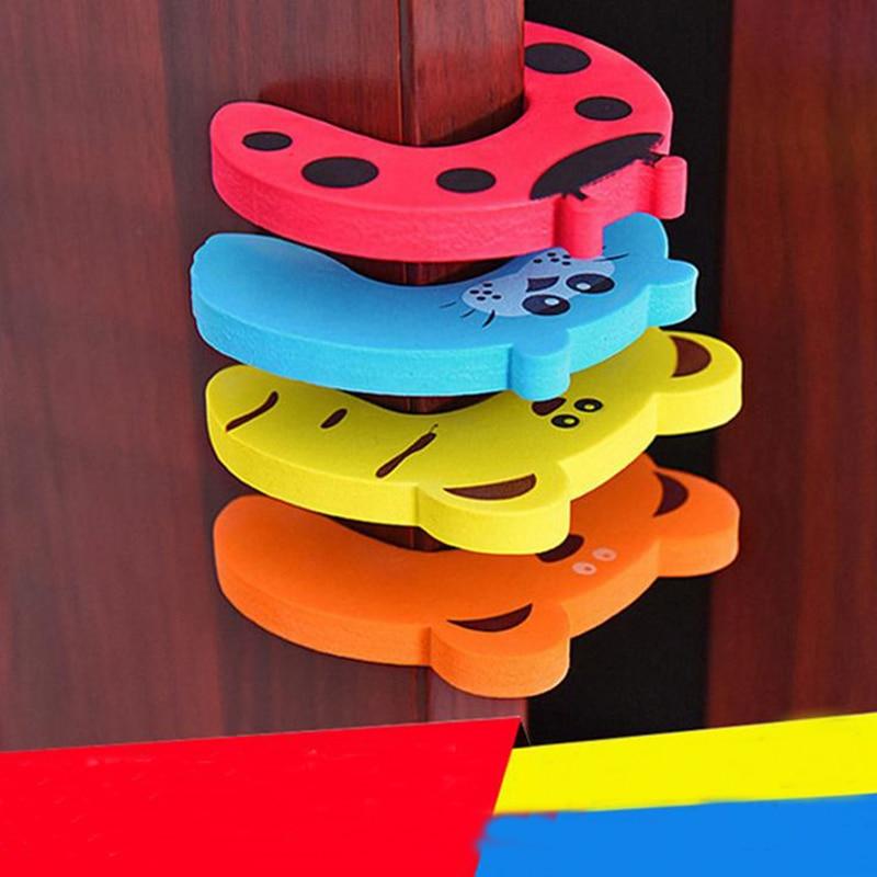 3Pcs Door Stops Stopper For Baby Protector Safety  Creative Children's Cartoon Animals Exit Card Door Clamp EVA Door Blocked