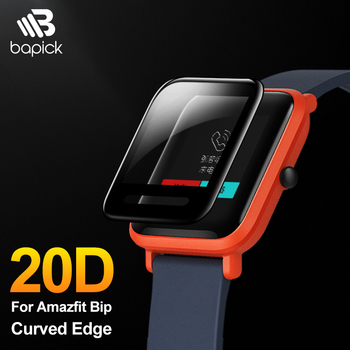 BAPICK Protective Glass For Xiaomi Amazfit Bip Screen Protector Protection Full Cover Huami Amazfit Bip Film Glass Accessories