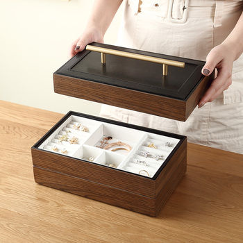 2020 New Luxury Large Wooden Jewelry Box Organizer 4 layer Jewelry Storage Case Casket Earring