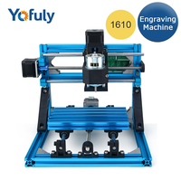 New 1610 With ER11 Engraving Machine CNC Mini DIY Engraver GRBL Control PCB Milling Machine with Free Cutter