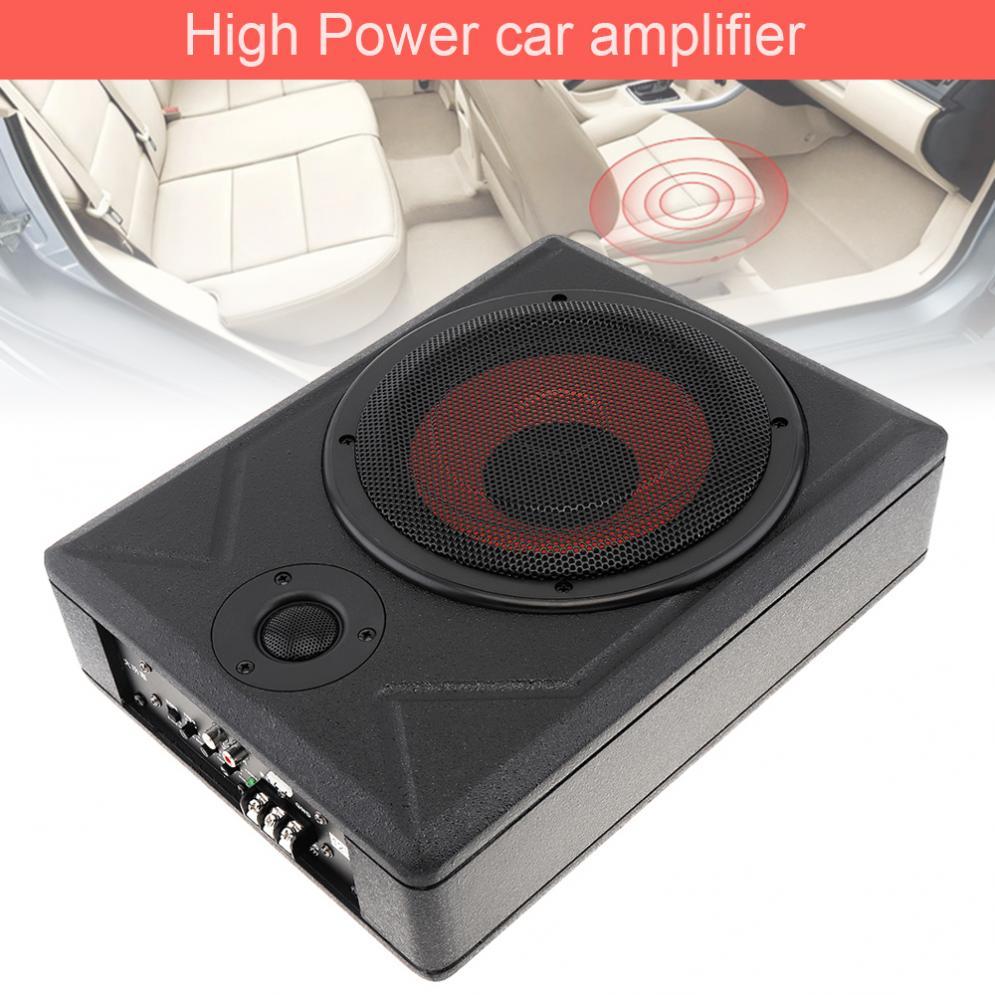 1 шт. Универсальный черный фюзеляж тонкий 8 дюймов 600 Вт Тонкий под сиденьем активный сабвуфер для автомобиля усилитель басов динамик подход...