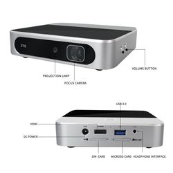 Zte Spro2 Lte Band1/3/7/38/39/40/41 Umts B1/2 /5/8 Hd Smart Andorid4.4 Projector Mifi Delen Router