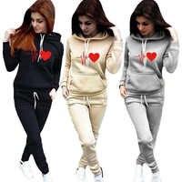 Frauen Trainingsanzug Hoodies 2 Stück Set Sweatshirt + Hosen Frauen Sport Anzug Frühling Und Herbst Sportswear