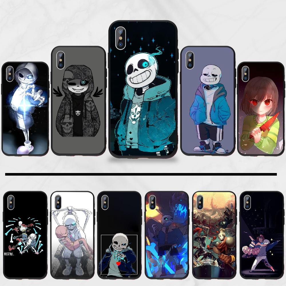 Undertale Sans Hot Silicone puns Game Coque Shell Anime Phone Case For iphone 4 4s 5