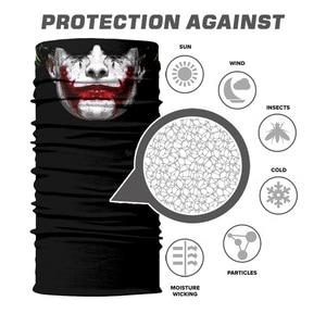 Image 5 - 3D Seamless Clown Joker Deadpool Balaclava Magic Warmer Motorcycle Breathable Mask Neck Gaiter Durag Headband Bandana Scarf