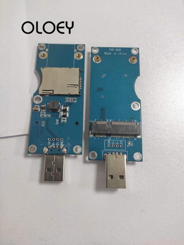 MINIPCIE To USB Adapter Card, MINIPCIE Kit ,MINIPCIE Development Board, (side Face) Automatic Pop-up SIM Card Holder