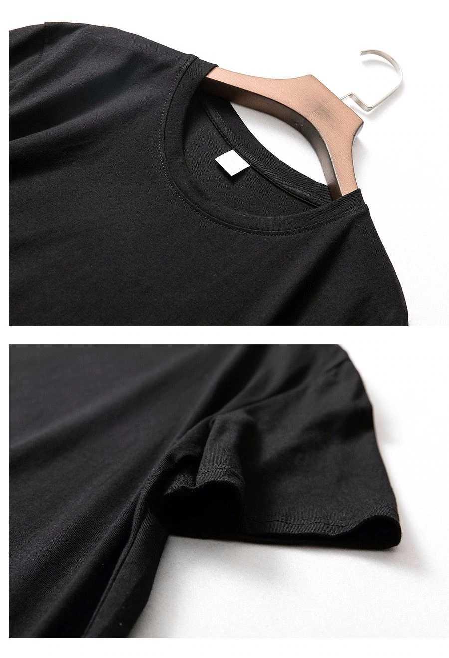 Camisetas de alta calidad 100% algodón talla grande para hombres Hipster verano camiseta negra de entrenamiento