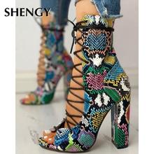 2020 Nightclub Spring Serpentine Platform High Heels Women Fashion High