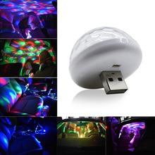 Мини USB диско-светильник светодиодный вечерние светильник s Портативный хрустальный магический шар красочный эффект сценический светильник для дома вечерние KTV год Dec