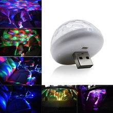 Mini Luz de discoteca USB luces de fiesta LED bola mágica de cristal portátil lámpara de escenario de efecto colorido para fiesta en casa KTV Año Nuevo Dec