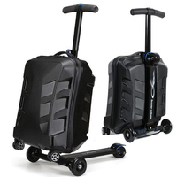 New 21 inch carry on luggage trolley kids sit on scooter travel suitcase Lazy trolley case