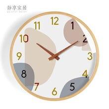 Большие настенные часы в европейском стиле деревянные креативные
