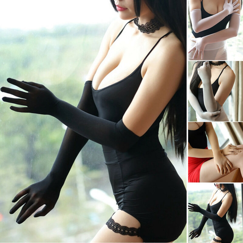 Smooth Sheer Seamless Long Gloves Affordable Luxury Smooth Pantyhose Tights Stockings Affordable Luxury Black White Beige Gray
