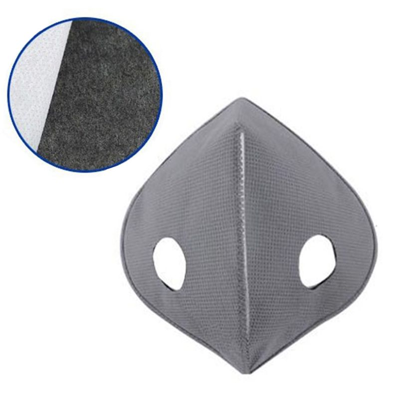 PM2.5 Exhaust Gas Activated Carbon Protective Filter 5 Layers Sheet Replacement Insert For Cycling Dust Prevention Mouth Mask
