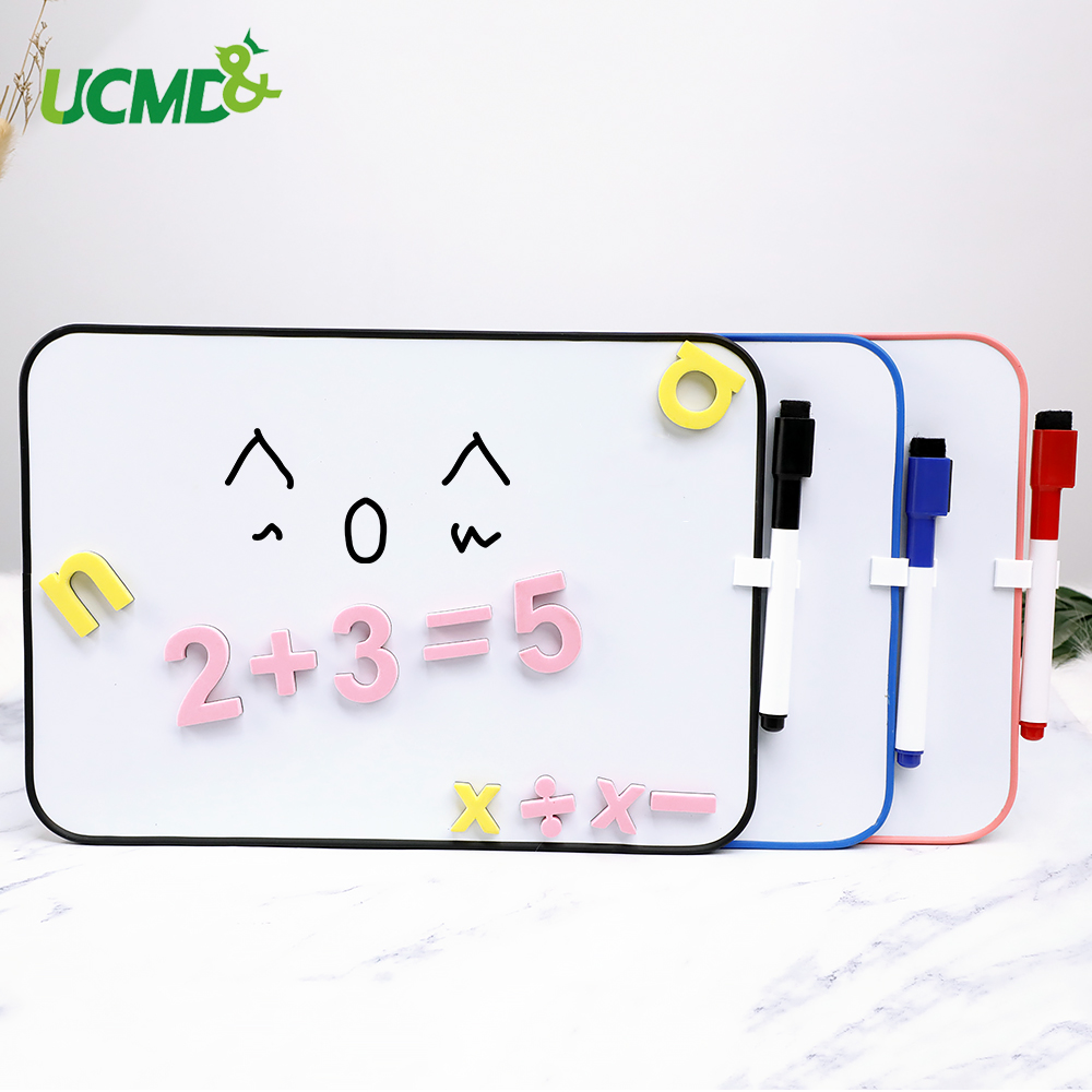 Double-Sided Erasable Whiteboard Signs Bulletin Message Board With Hook DIY Decoration Kids Writing Drawing Graffiti Board Toy