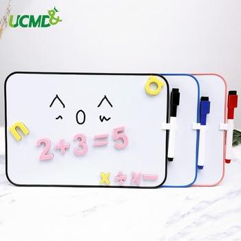 Pizarra blanca borrable de doble cara carteles tablón de anuncios con gancho DIY decoración niños escritura dibujo Graffiti tablero de juguete