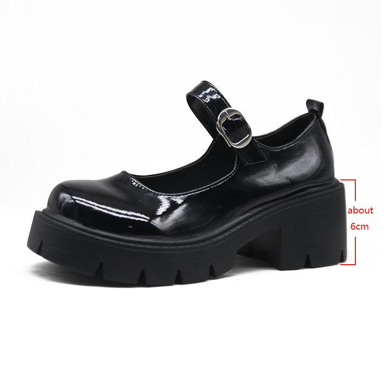 low heel women shoes models Mary Jane shoes women's Japanese high heels platform shoes harajuku vintage lolita shoes heels
